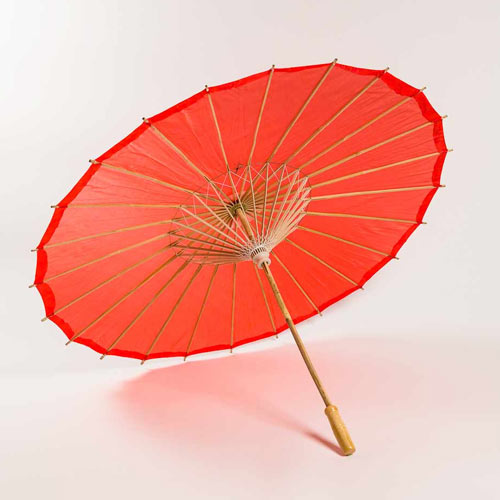 Red Chinese Parasol