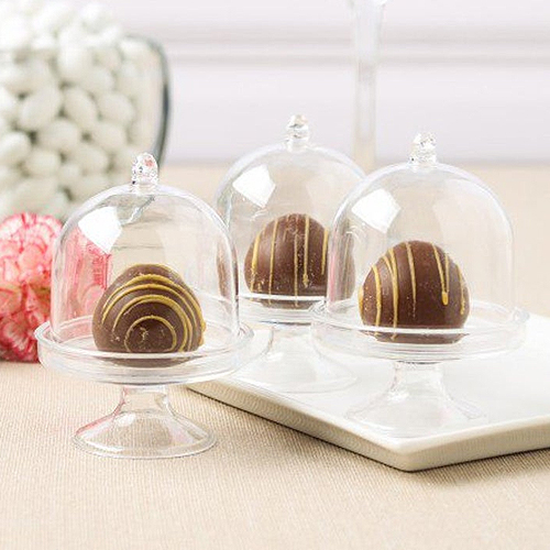 Mini Cake Stand Box Sugarbird Wedding, Mini Glass Cupcake Stand With Dome