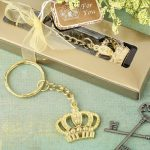 Gold Metal Crown Keyring