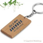 Eco Rectangle Wooden Keyring