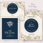 Floral Circle Invitation Pack