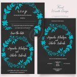 Floral Wreath Invitation Pack