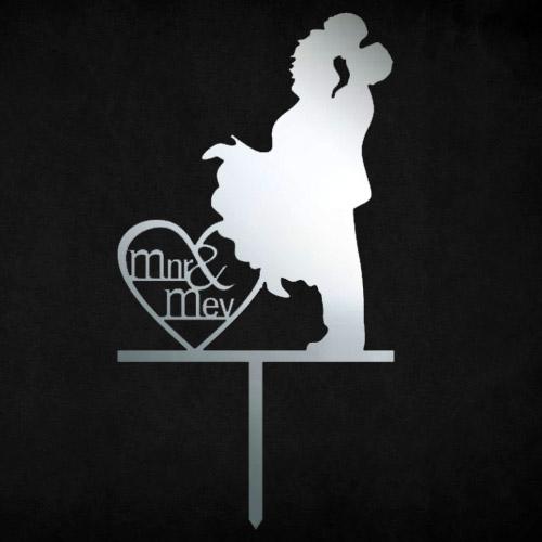 Mnr & Mev Heart Cake Topper