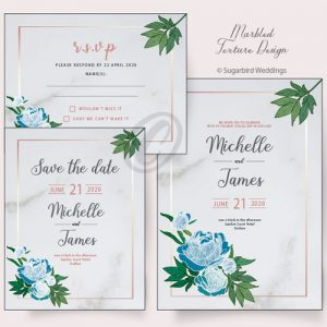 Marbled Texture Invitation Pack