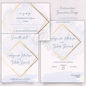 Watercolour Geometric Invitation Pack