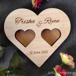 Wooden Heart Ring Holder
