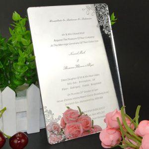 Mirror Acrylic Wedding Invite