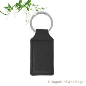 Black Leatherette Keyring