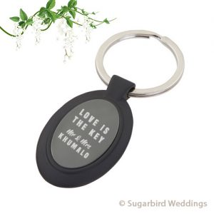 Black Oval Keyring