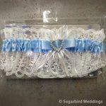 Blue Heart Lace Garter