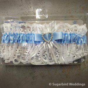 Blue Heart Lace Garter