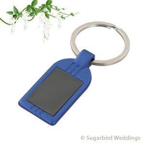 Blue Metal Keyring