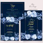 Blue Rose Invitation Pack