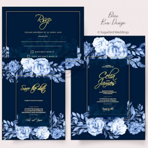 Blue Rose Invitation Pack