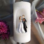 20cm Bride and Groom Candle