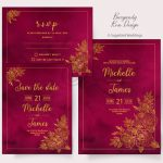 Burgandy Rose Invitation Pack