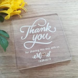 Clear Acrylic Coaster