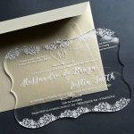 Clear Acrylic Wedding Invite