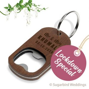 Country Wooden Keyring