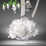 Crystal Rose Card Holder