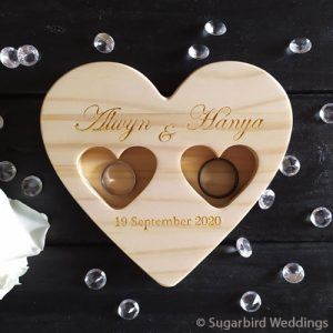 Wooden Heart Ring Holder