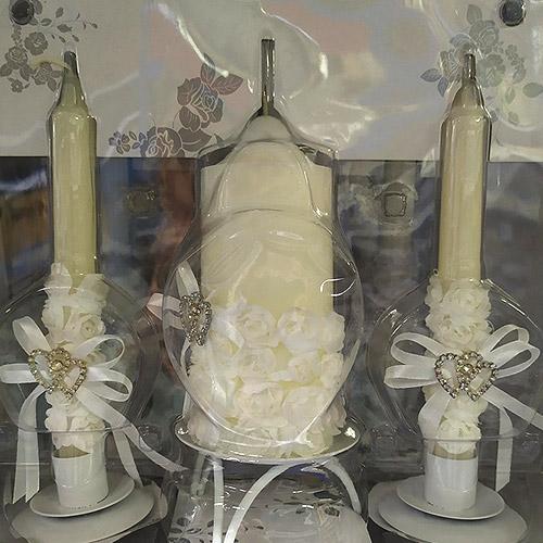 Decorated Unity Candle Set