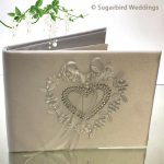 Diamante Heart Guest Book
