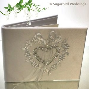 Diamante Heart Guest Book