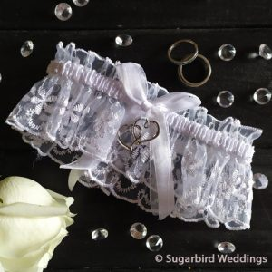 Double Heart Lace Garter