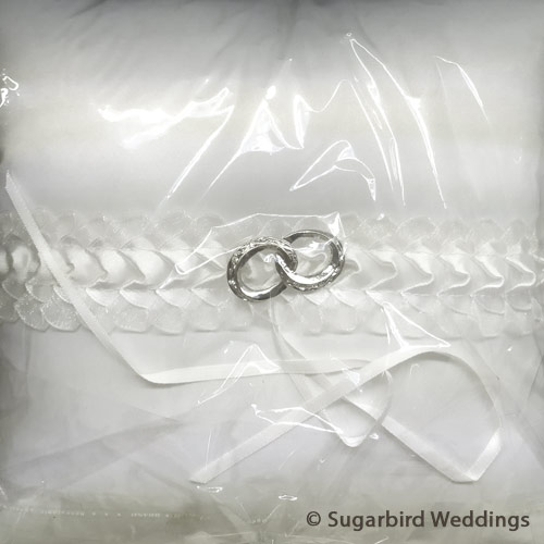 Double Romance Ring Pillow Sugarbird Wedding Favours