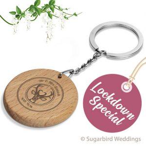 Eco Round Wooden Keyring