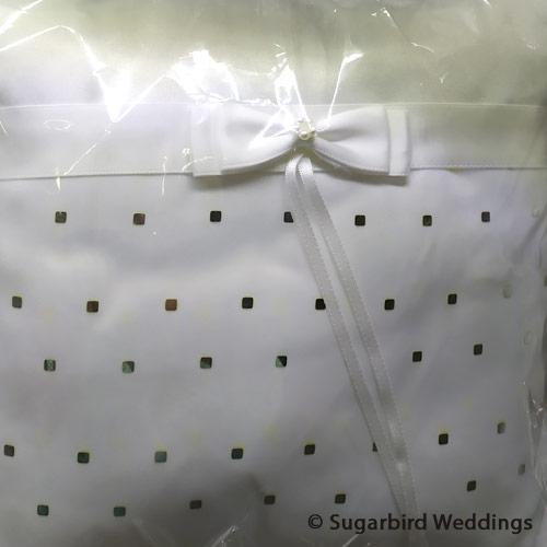 Elegant Squares Ring Pillow