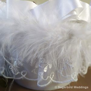 Feather Flower Girl Confetti Basket