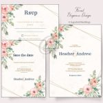 Floral Elegance Invitation Pack
