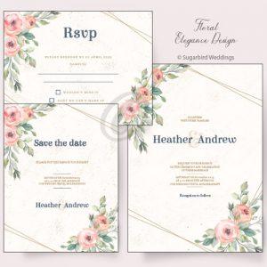 Floral Elegance Invitation Pack