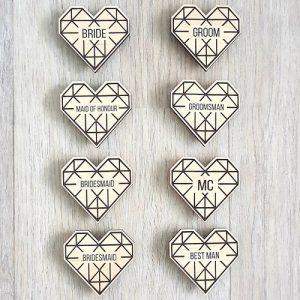 Lasercut Heart Badge