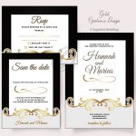 Gold Opulence Invitation Pack
