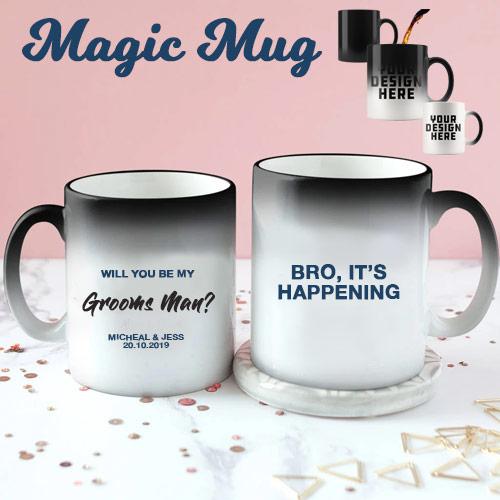 Groomsman Colour Changing Mug