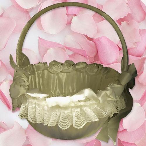 Lace Flower Girl Confetti Basket