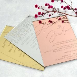 Mirror Acrylic Wedding Invite