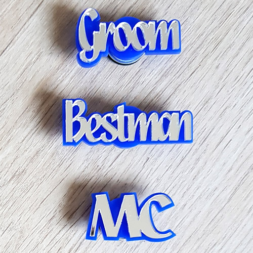 Lasercut Mirror Badge