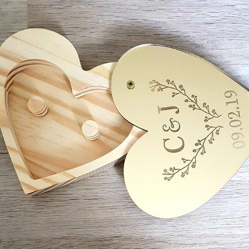 Mirror Heart Ring Box