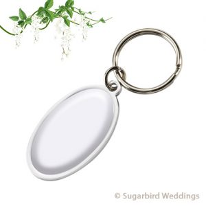 Oval Dome Keyring