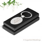 Oval Metal Keyring