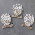 Lasercut Protea Badge