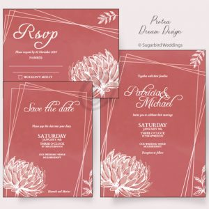 Protea Dream Invitation Pack