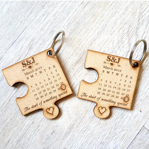 Custom Puzzle Keyring