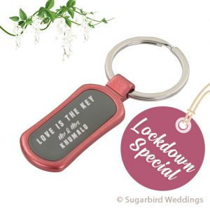 Red Metal Keyring