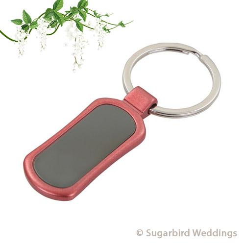 Red Metal Keyring