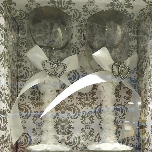 Champagne Glass Wedding Set
